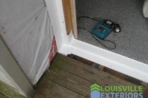 Leaking Door – Installation of Sill Pan