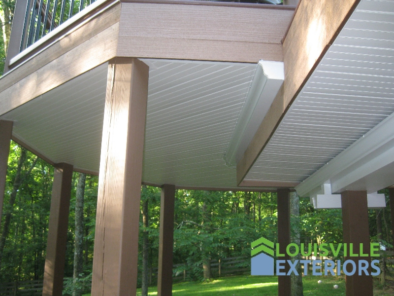 Under Decking Roof Rain Carrying System Louisville Exteriors